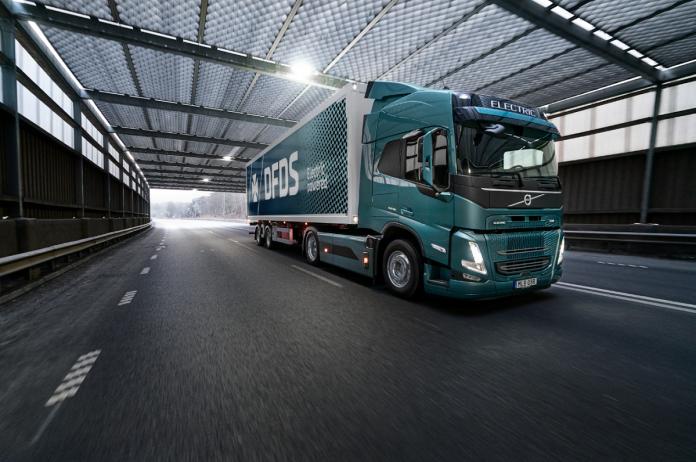 volvo trucks elettrificazione trasporti DFDS